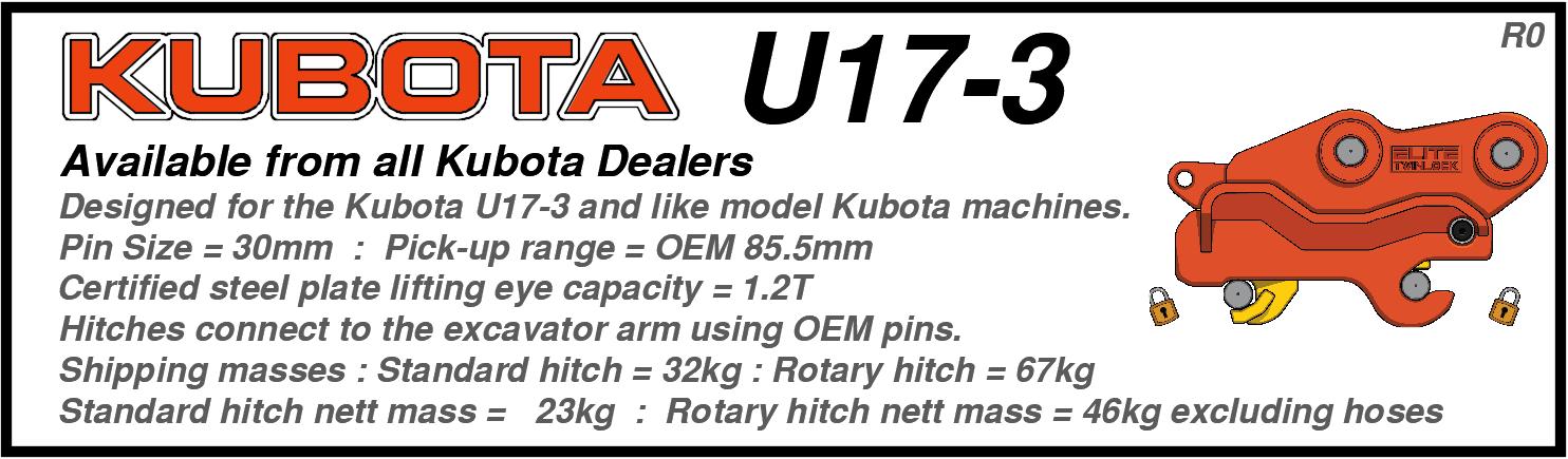 Kubota U17-3