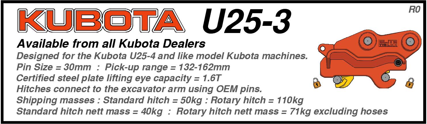 Kubota U25-3