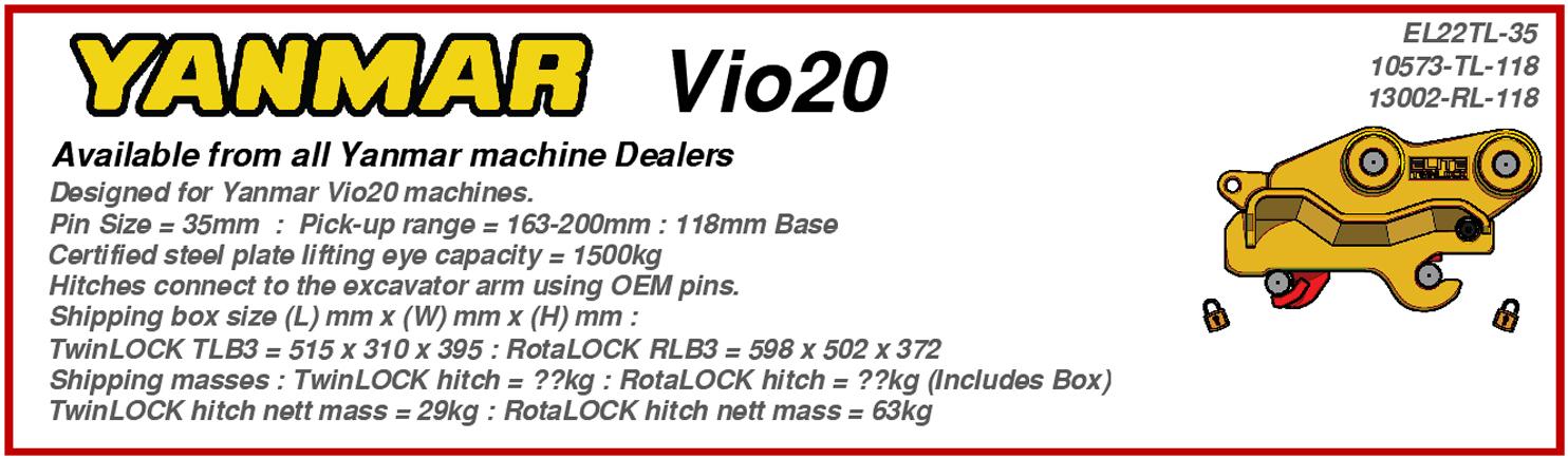 Yanmar Vio20