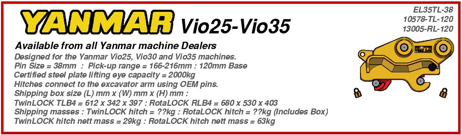 Yanmar Vio25 – Vio35