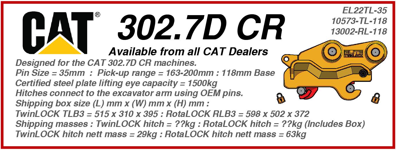 CAT 302.7D CR